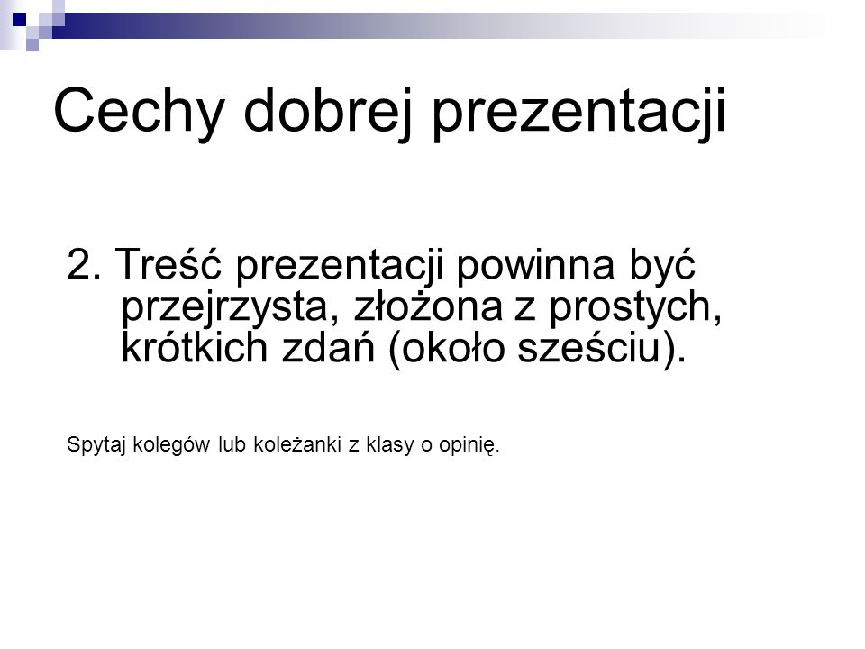Cechy dobrej prezentacji