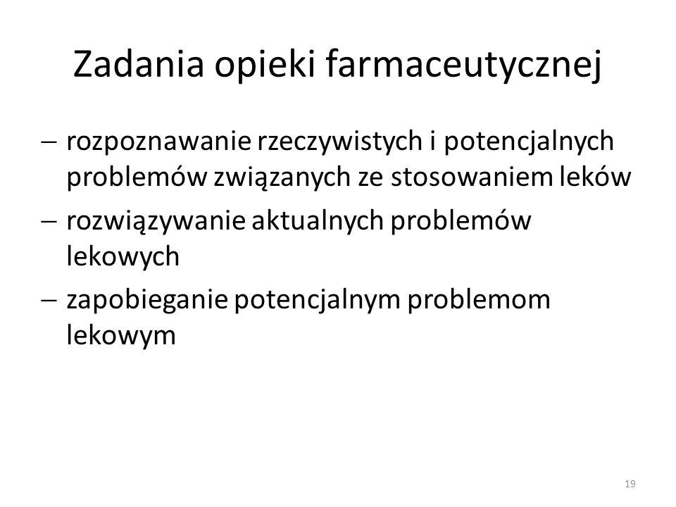 Zadania opieki farmaceutycznej