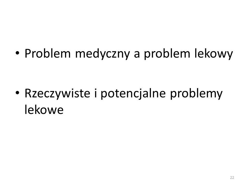 Problem medyczny a problem lekowy