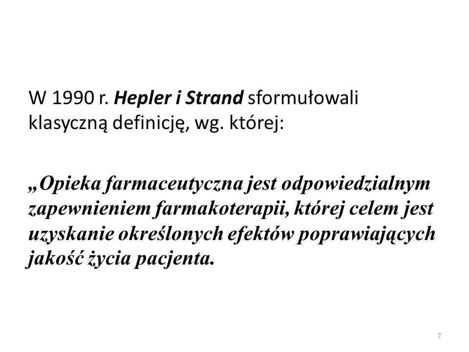 W 1990 r. Hepler i Strand sformułowali klasyczną definicję, wg