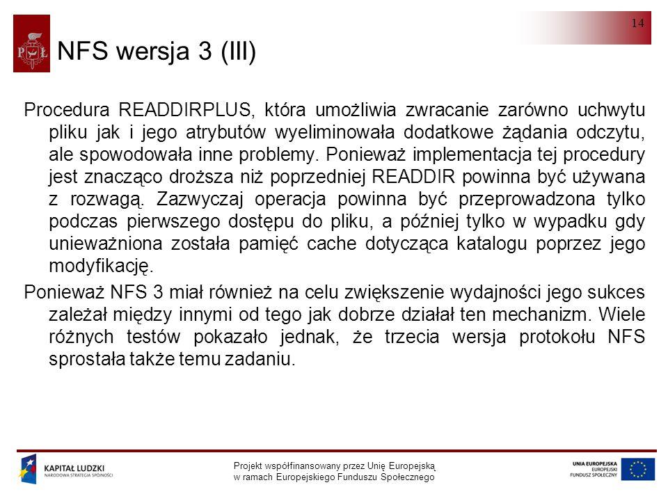 NFS wersja 3 (III)