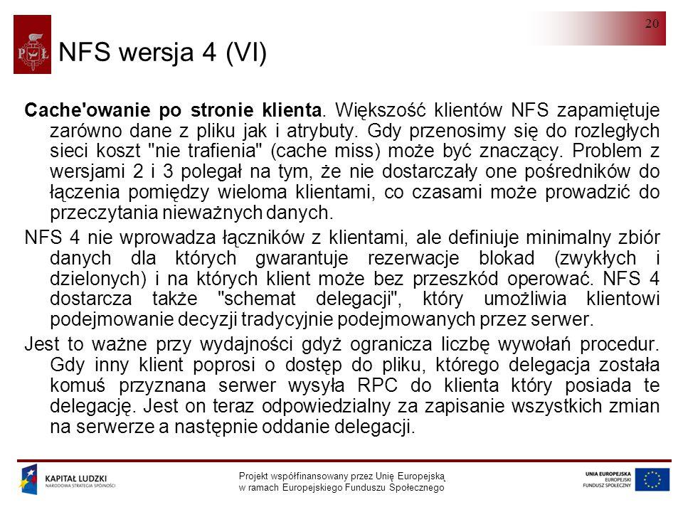 NFS wersja 4 (VI)