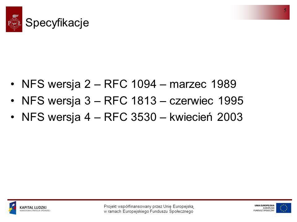 NFS wersja 2 – RFC 1094 – marzec 1989