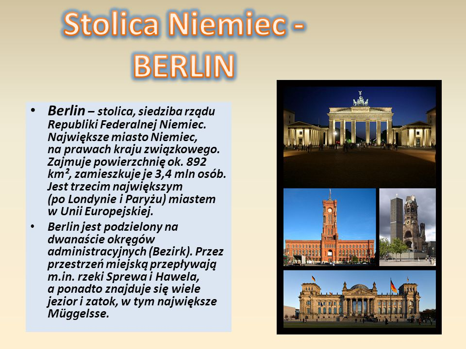Stolica Niemiec - BERLIN