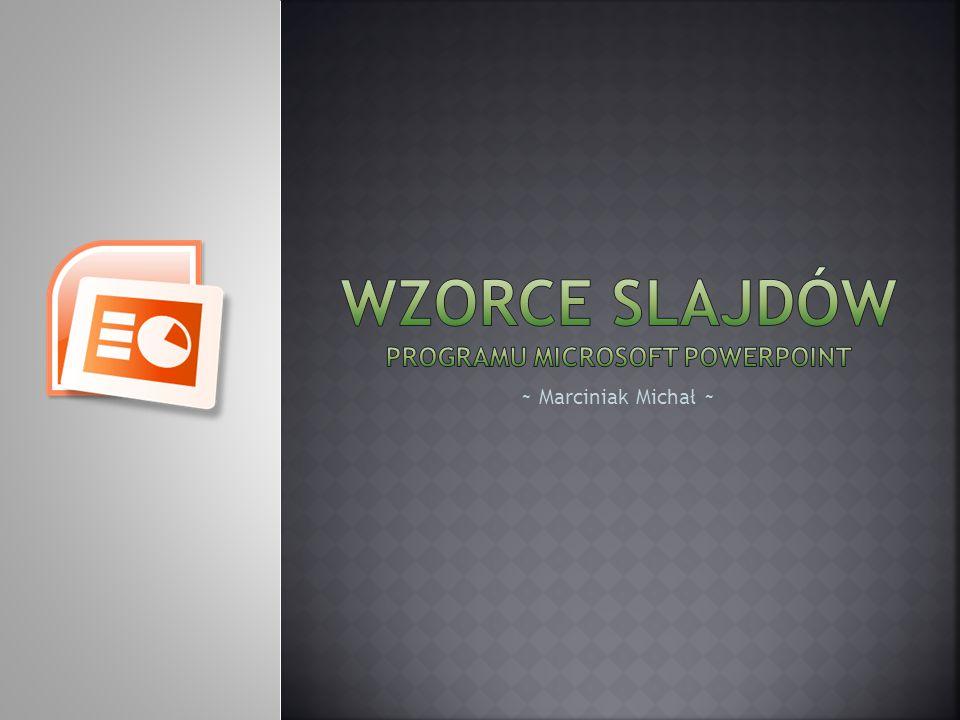 Wzorce slajdów programu microsoft powerpoint