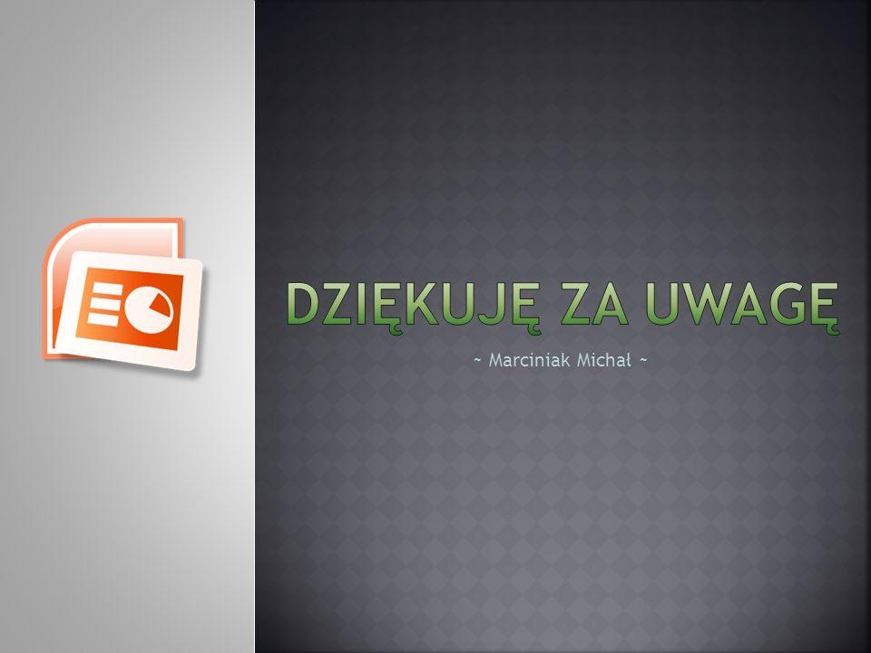 DZIĘKUJĘ ZA UWAGĘ ~ Marciniak Michał ~