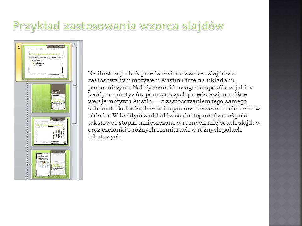 Przykład zastosowania wzorca slajdów