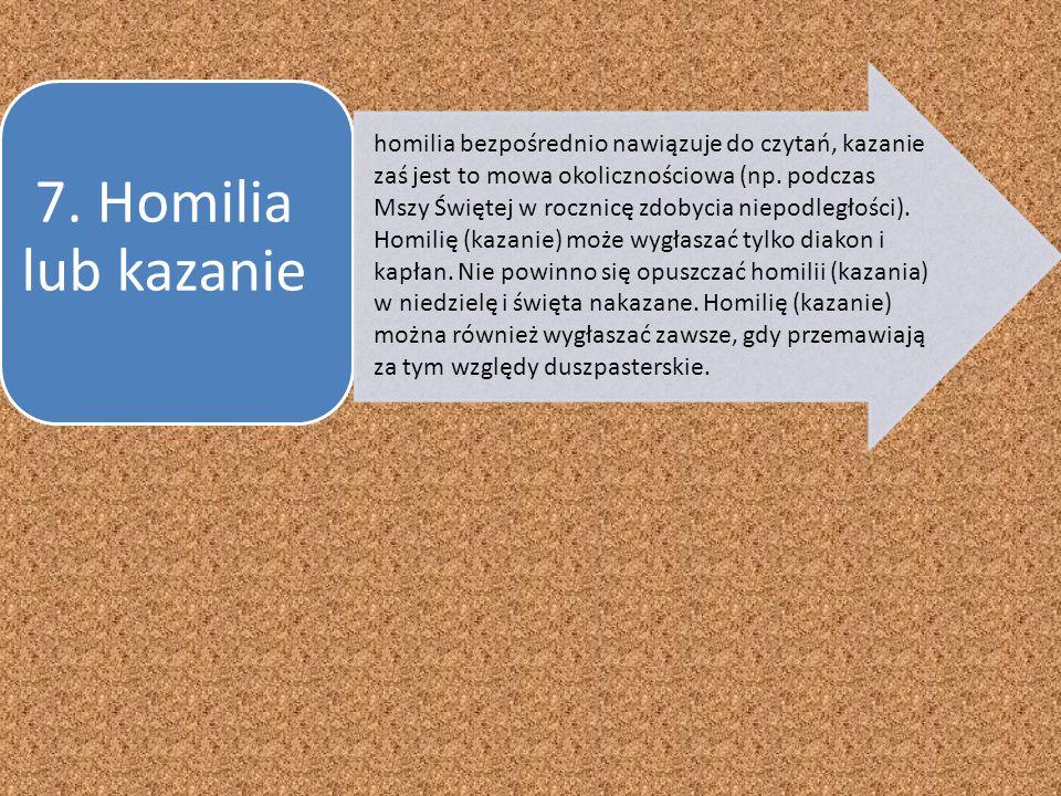 7. Homilia lub kazanie