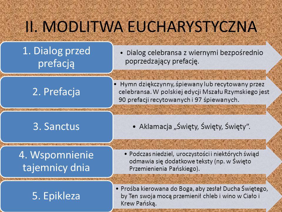II. MODLITWA EUCHARYSTYCZNA