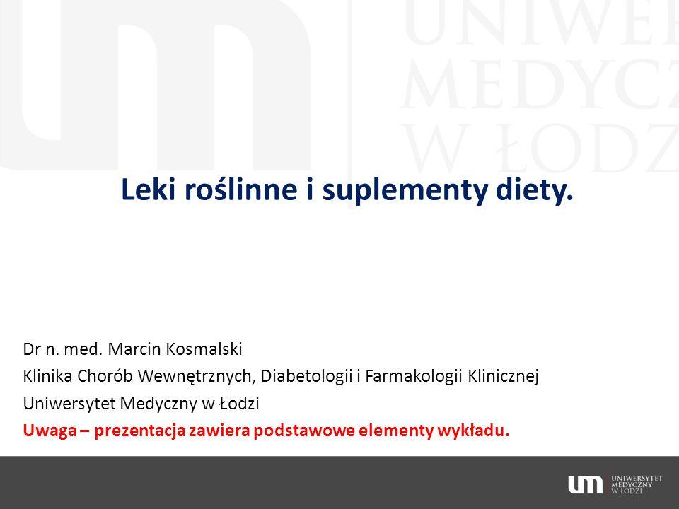 Leki roślinne i suplementy diety.