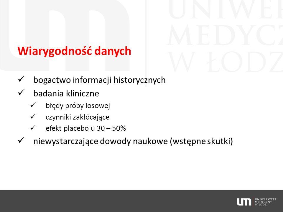 Wiarygodność danych bogactwo informacji historycznych