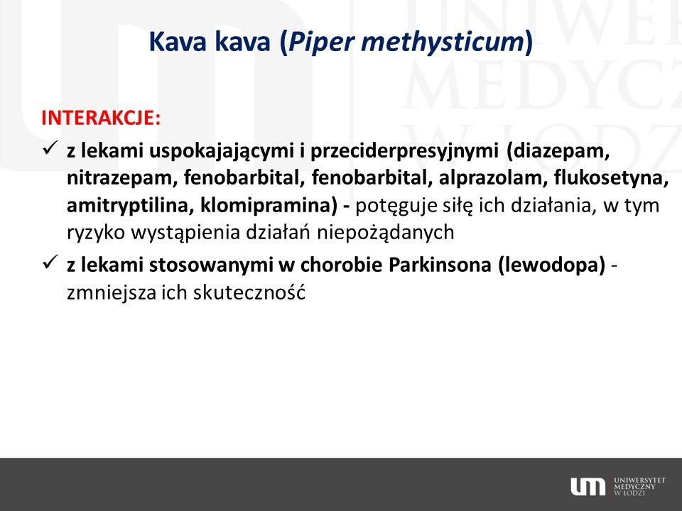 Kava kava (Piper methysticum)