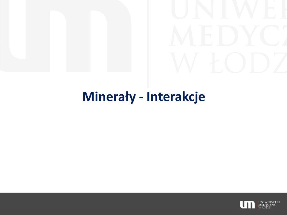 Minerały - Interakcje
