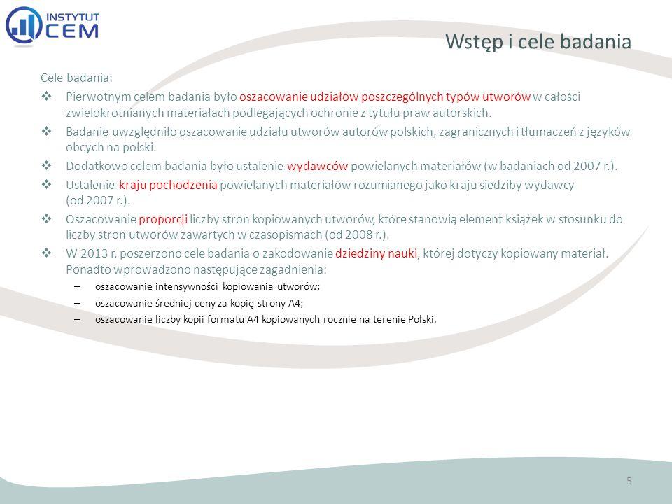 Wstęp i cele badania Cele badania: