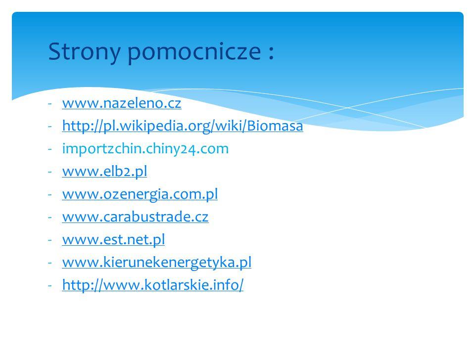 Strony pomocnicze : www.nazeleno.cz