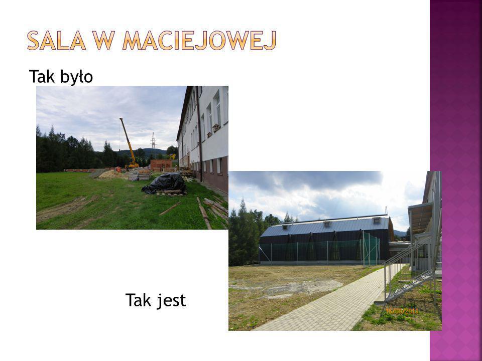 Sala w Maciejowej Tak było Tak jest