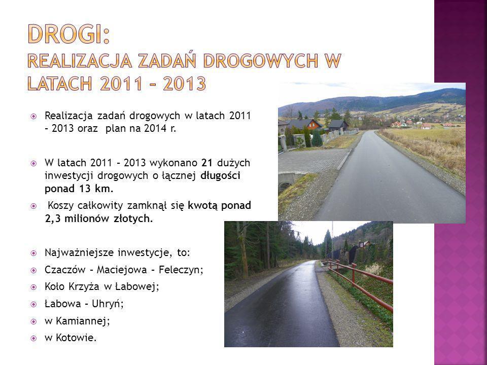 Drogi: Realizacja zadań drogowych w latach 2011 – 2013