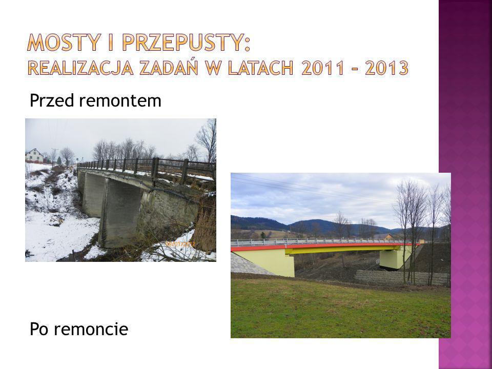 Mosty i przepusty: Realizacja zadań w latach 2011 – 2013