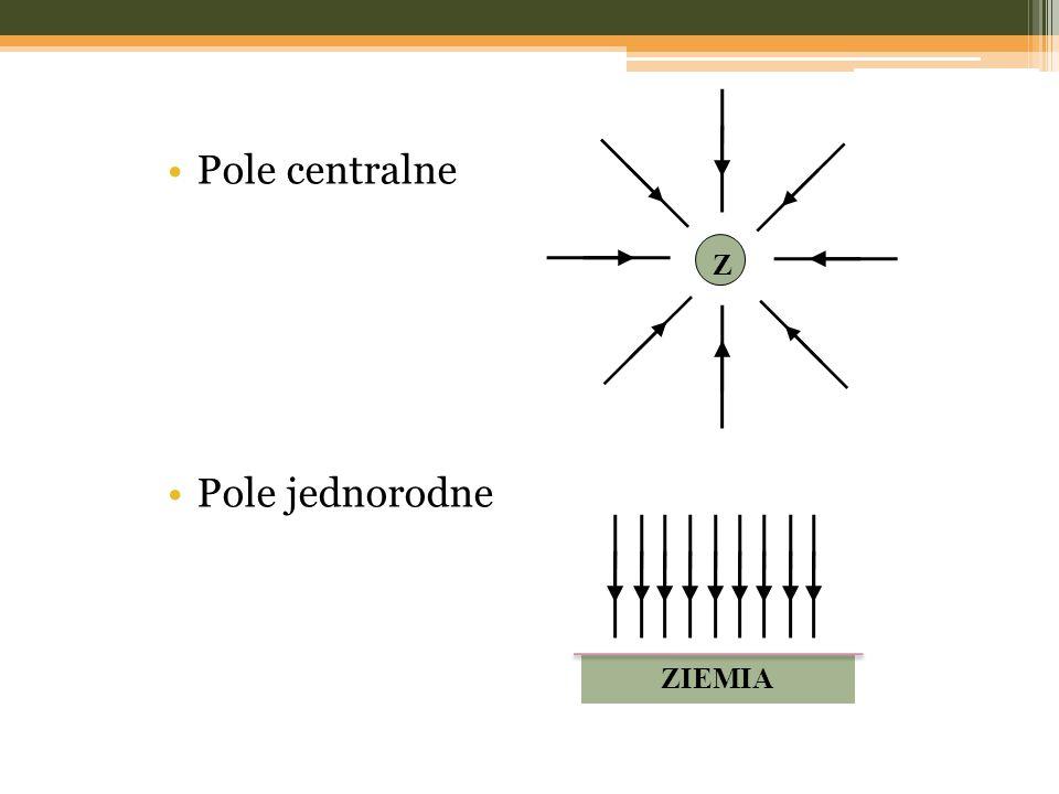 Z Pole centralne Pole jednorodne ZIEMIA