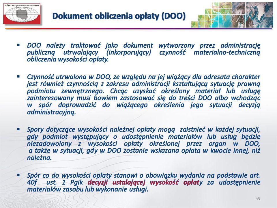 Dokument obliczenia opłaty (DOO)