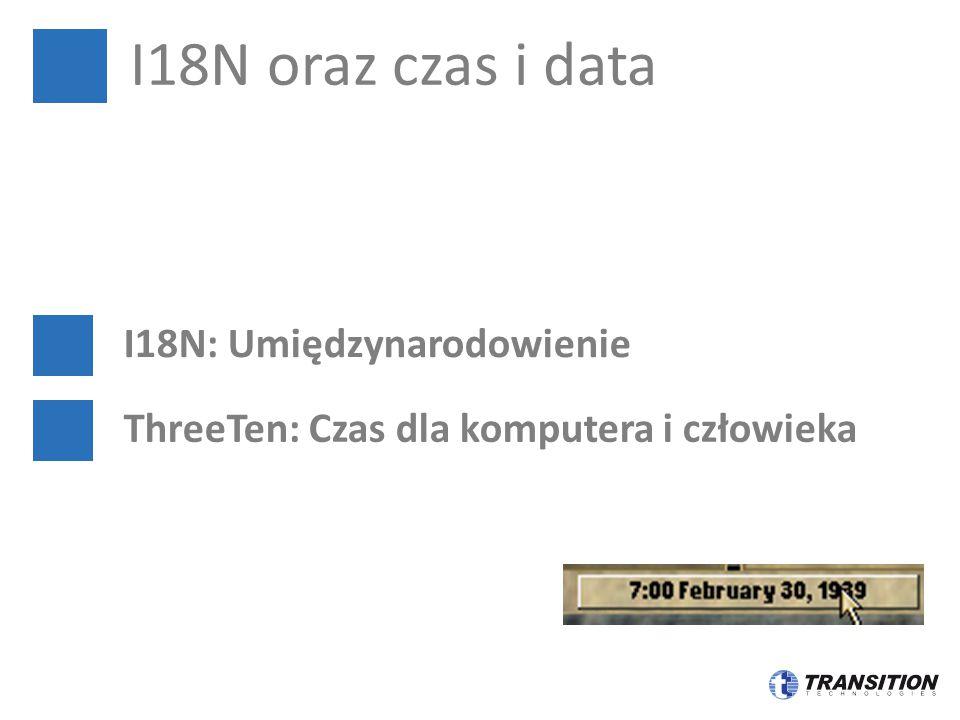 I18N oraz czas i data I18N: Umiędzynarodowienie