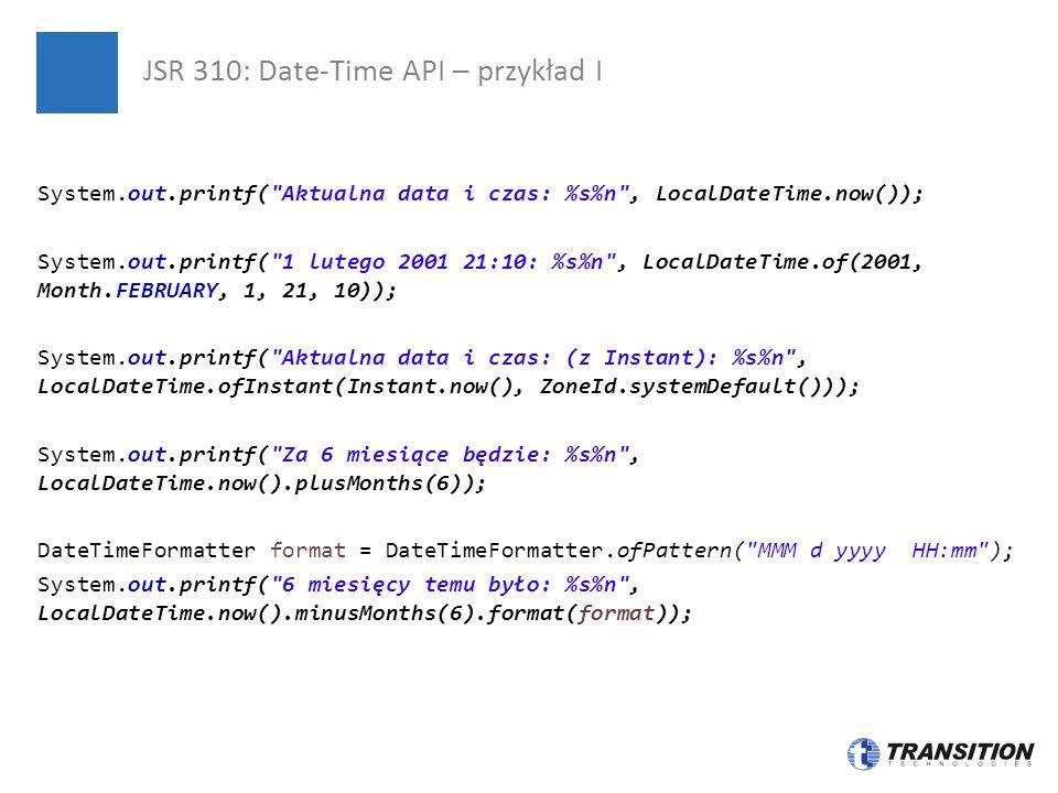 JSR 310: Date-Time API – przykład I