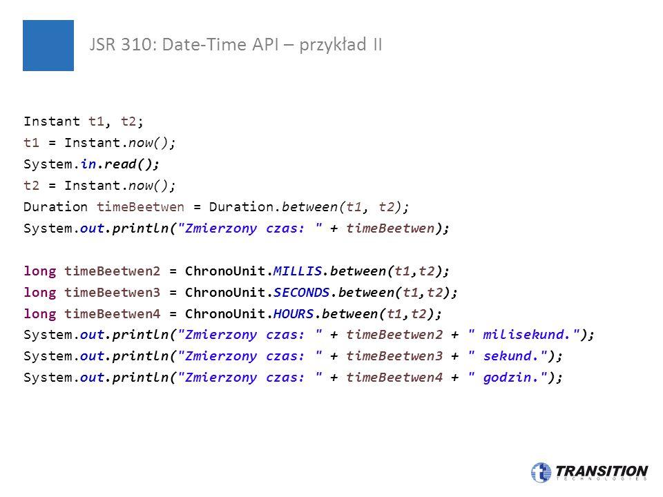 JSR 310: Date-Time API – przykład II