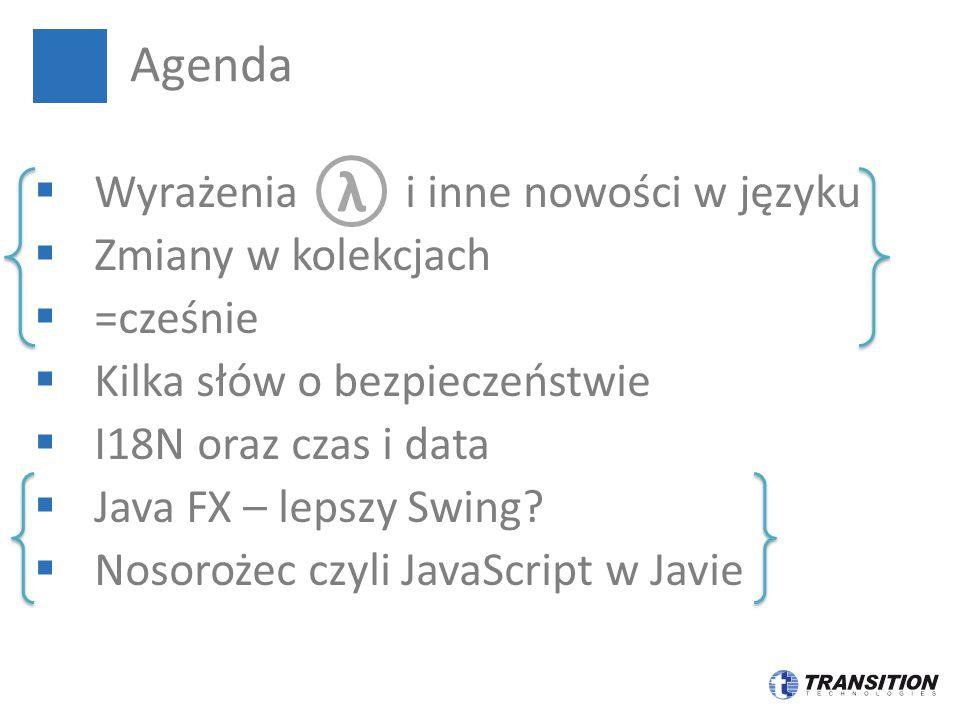 λ Agenda Wyrażenia i inne nowości w języku Zmiany w kolekcjach