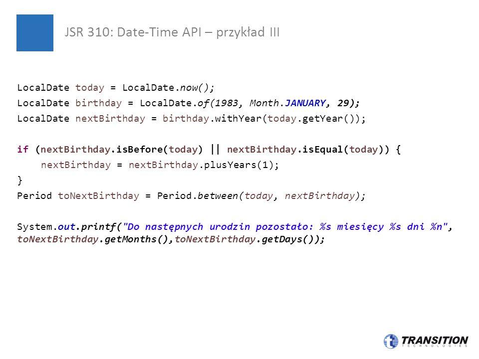 JSR 310: Date-Time API – przykład III