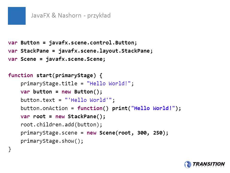 JavaFX & Nashorn - przykład