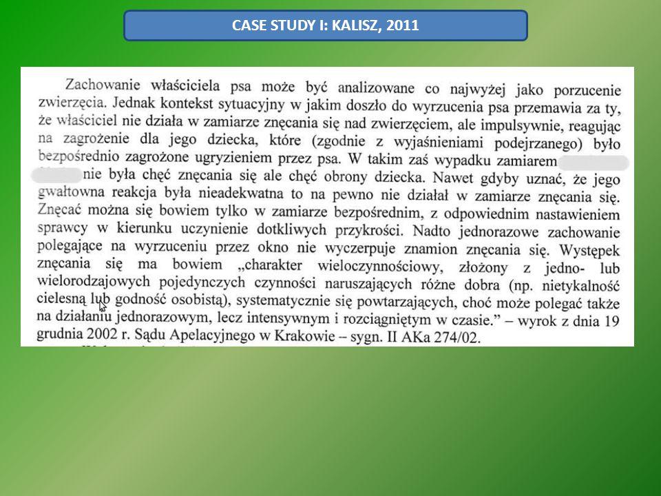 CASE STUDY I: KALISZ, 2011