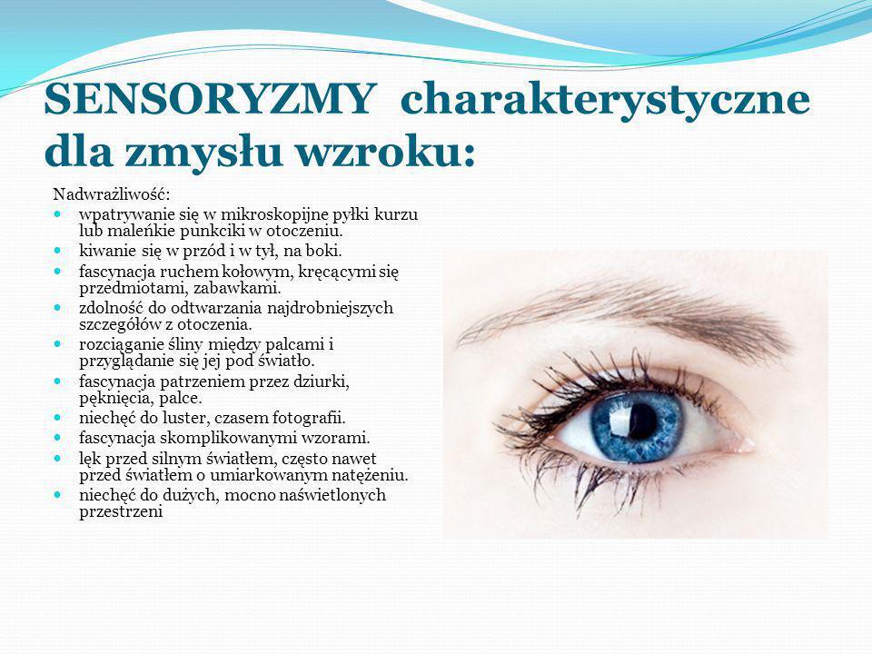 SENSORYZMY charakterystyczne dla zmysłu wzroku: