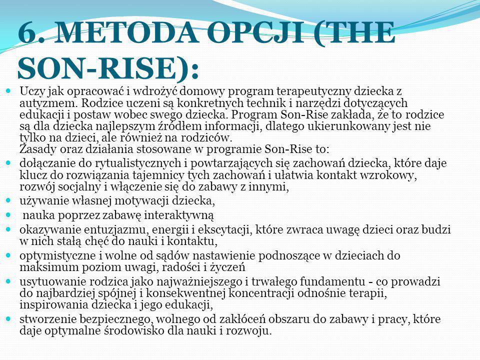 6. METODA OPCJI (THE SON-RISE):