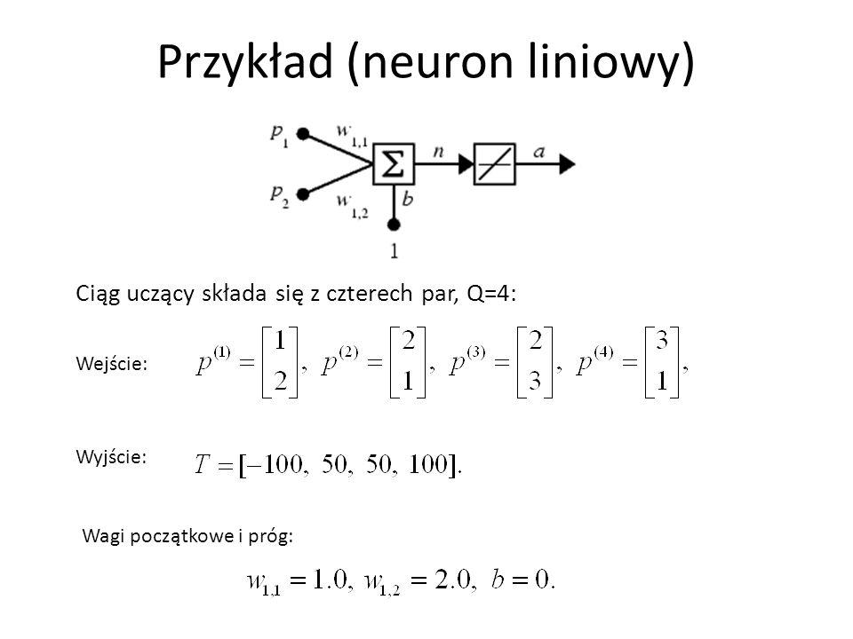 Przykład (neuron liniowy)