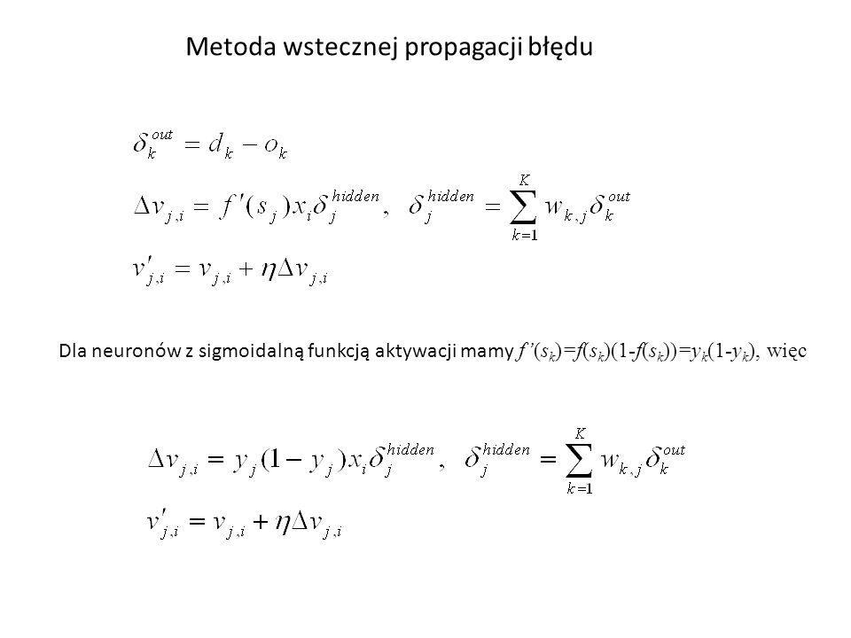 Metoda wstecznej propagacji błędu