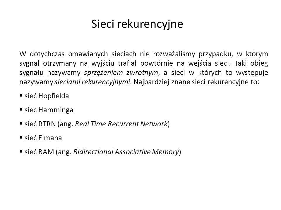 Sieci rekurencyjne