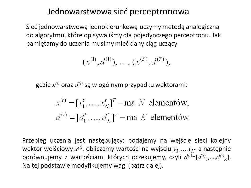 Jednowarstwowa sieć perceptronowa