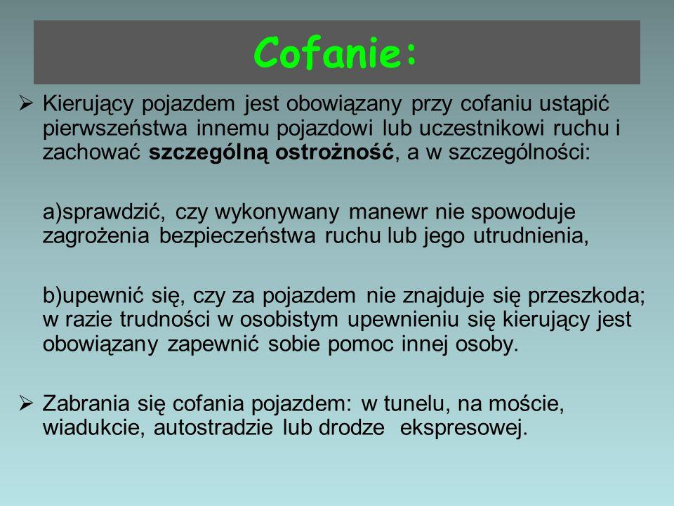 Cofanie:
