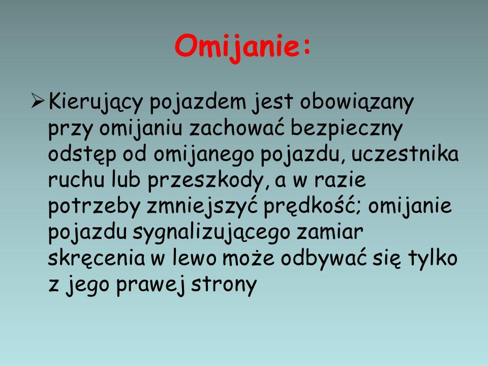 Omijanie: