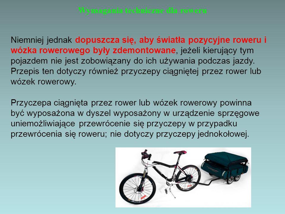 Wymagania techniczne dla roweru