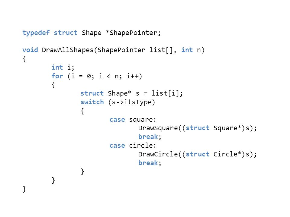 typedef struct Shape *ShapePointer;