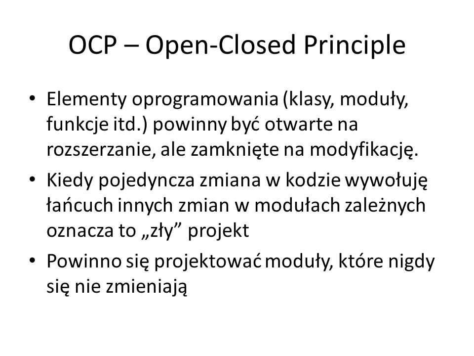 OCP – Open-Closed Principle