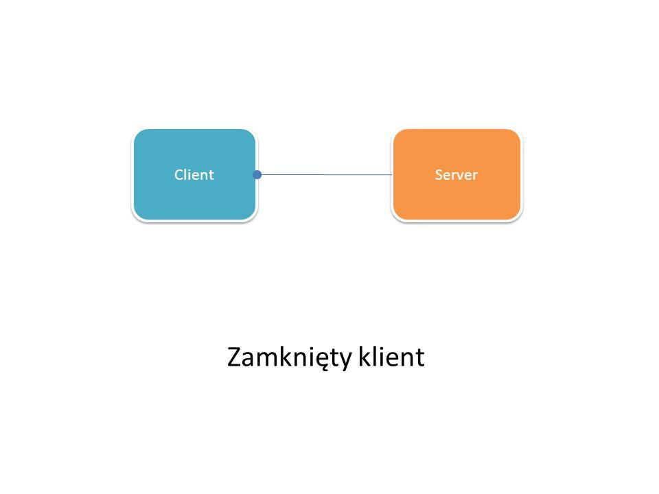 Zamknięty klient Client Server
