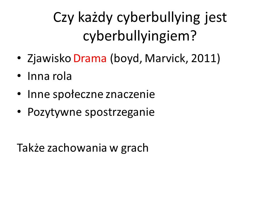 Czy każdy cyberbullying jest cyberbullyingiem