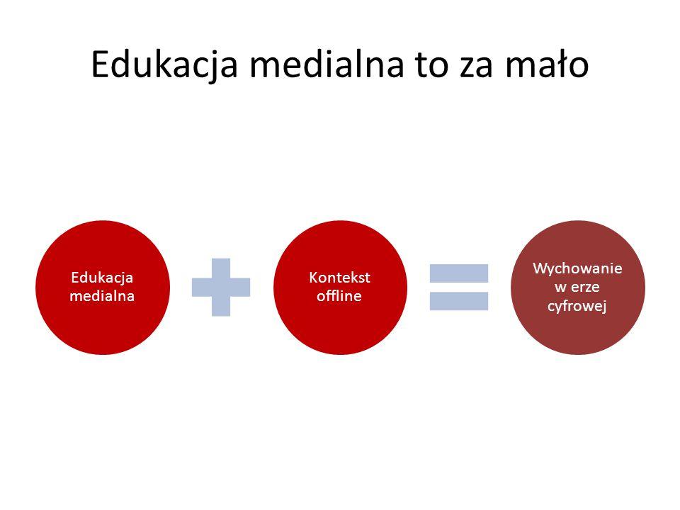 Edukacja medialna to za mało