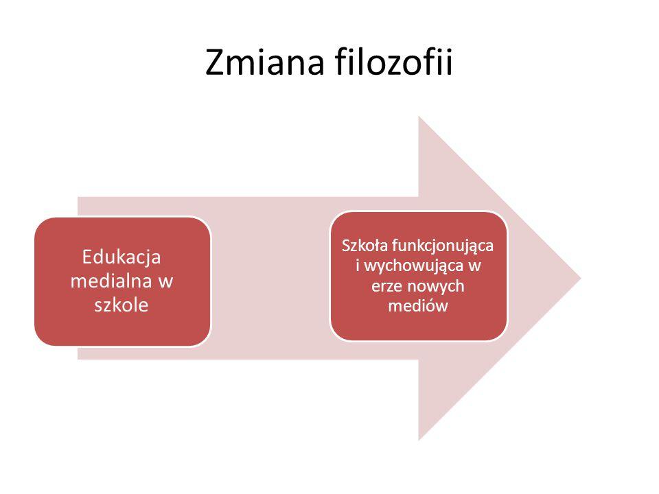 Zmiana filozofii Edukacja medialna w szkole