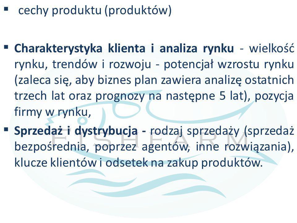cechy produktu (produktów)