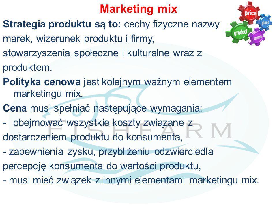 Marketing mix Strategia produktu są to: cechy fizyczne nazwy