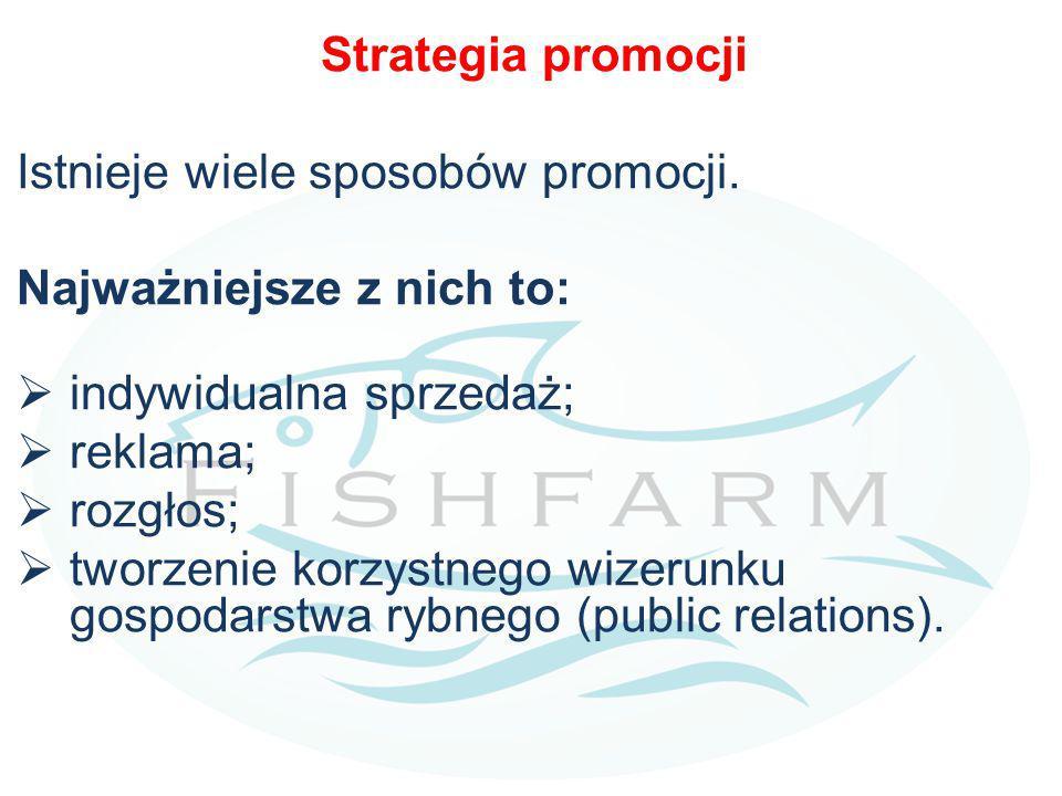 Strategia promocji Istnieje wiele sposobów promocji. Najważniejsze z nich to: indywidualna sprzedaż;