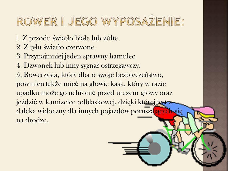 Rower i jego wyposażenie: